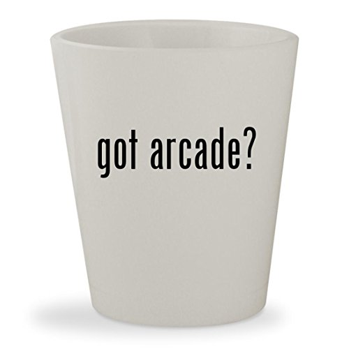 got arcade? - White Ceramic 1.5oz Shot Glass