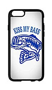 """RainbowSky iPhone 6 Plus (5.5"""" Inch) Case - Kiss My Bass Fishing Hard Plastic Back Protection Phone Case Cover -944"""