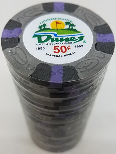 (Poker Chips - (25) 50¢ Dunes Commemorative 9 gram Clay)