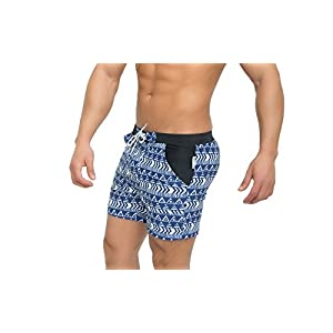 Taddlee Men's Swimwear Basic Swimsuits Board Swimming Surf Boxer Trunks Shorts Blue/White (S)