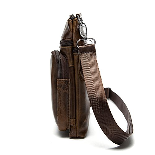Zhhlaixing Mens Womens De las mujeres Smooth Slim Mini Zipper Cross Body Backpack Shoulder Cycling Bag Christmas Halloween Brown