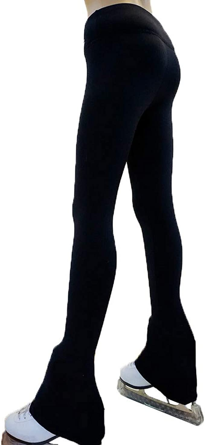 Details about  /Figure Skating  Tights Over The Boot Leggings Compression Pants Base Layer