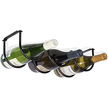 Amazoncom Oenophilia Under Cabinet Wine Rack 6 Bottle Home