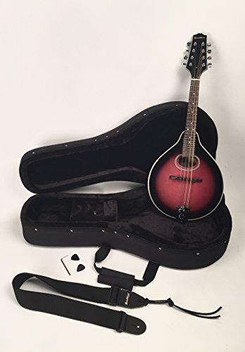 Left Handed A-Style Mandolin Oval Soundhole Wineburst Finish Set-Up & Adjusted In My Shop For Easy Play Includes Strap And Hard Featherlite Case by Guitar Works, Inc.