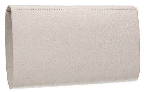 Rouge Suede H Pochette amp; enveloppe Ivory Faux G ordinaire prT0wqrI