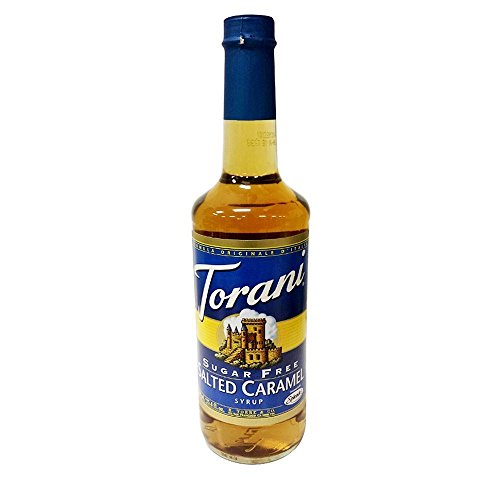 (Torani Sugar Free Salted Caramel Syrup with Splenda, 750ml)