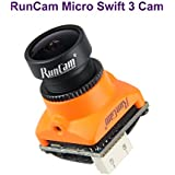 RunCam Micro Swift 3 FPV Camera 2.1mm 600TVL FOV 165 Degrees M12 Lens NTSC CCD Micro Drone Cameras Orange for FPV Racing Drone