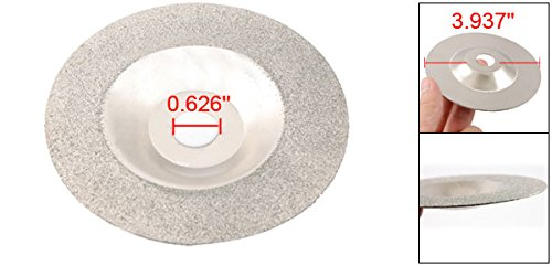 Uxcell 100mm Single Side Coarse Grits Electroplated Diamond Coated Cutting Disc Tool a12032600ux0878