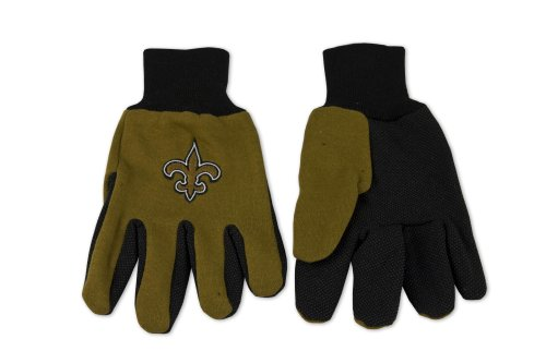 NFL New Orleans Saints Two-Tone Gloves, - Jersey New Mall Gardens