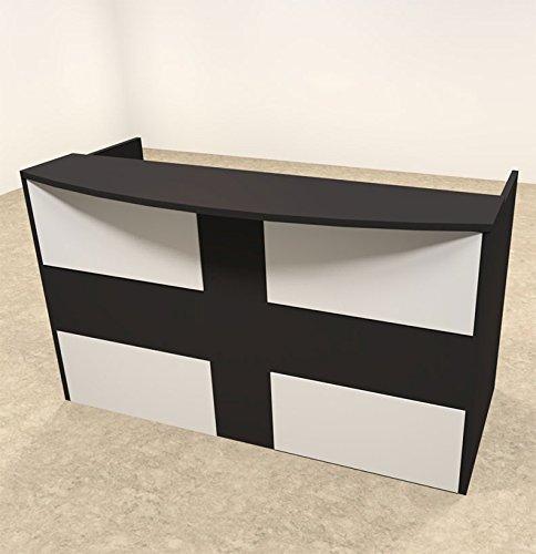 2pc Rectangular Modern Acrylic Panel Office Reception Desk, #OT-SUL-R16 by UTM
