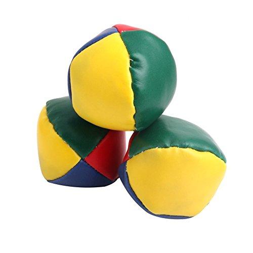 Jesse Pack of 3 Juggling Balls Set, Classic Bean Bag Juggle Magic Circus Toy Gift for Kids Boys Girls Family Classic Juggling Balls