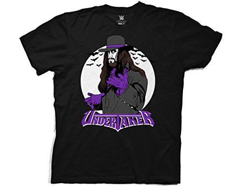 Ripple Junction WWE Vintage Undertaker with Logo Adult T-Shirt 3XL Black