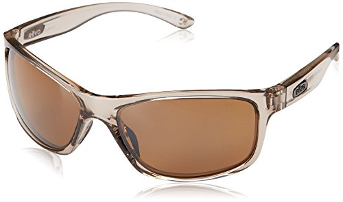Revo Harness RE 4071 00 BR Polarized Rectangular Sunglasses, Greige/Terra, 61 - Harness Revo