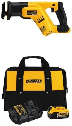 DEWALT 20-volt MAX Compact Reciprocating Saw with Charger Kit and Bag