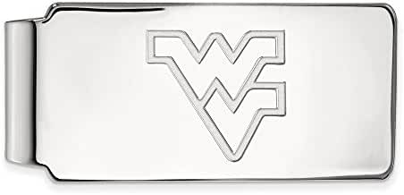 Sterling Silver LogoArt Official Licensed Collegiate West Virginia University (WVU) Money Clip