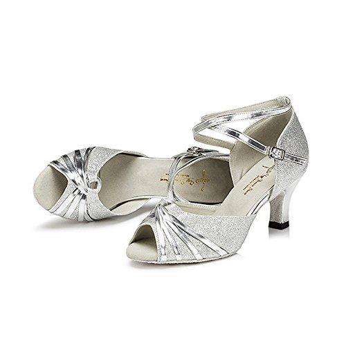 Bottom GUOSHIJITUAN Dancing Dance Child Soft Shoes Ladies Dance Latin Shoes B Ballroom Sandal qSSxngOBw
