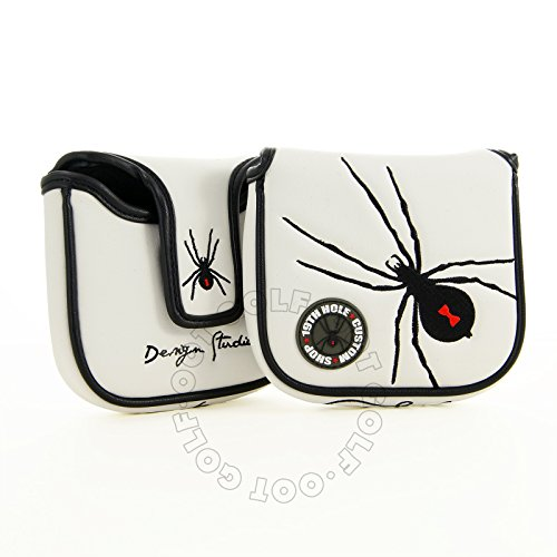 19th Hole Custom Shop Spider High-MOI Mallet Putter Headcover, Heel Shaft, White (Moi Putter)