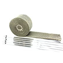 "SWI Parts 2""X15ft LAVA Titanium Pipe Insulation Wrap Heat Exhaust Wrap W/5 Stainless Steel Zip Ties"