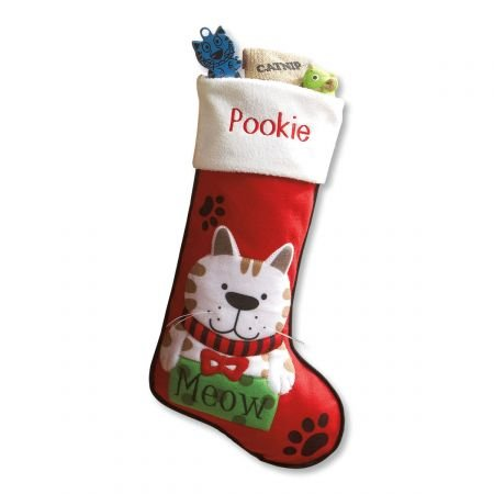 Personalized Pet Stockings - Lillian Vernon Personalized Pet Christmas Stocking for Cats - 18