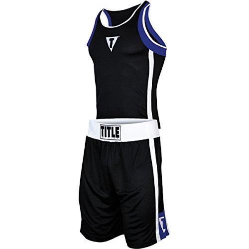 Title Boxing Aerovent Elite Amateur Boxing Set 4, Black/Blue, Youth Large