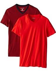 $9.59 汤米菲格Tommy Hilfiger V-Neck T-Shirt男士全棉休闲T恤 两件装