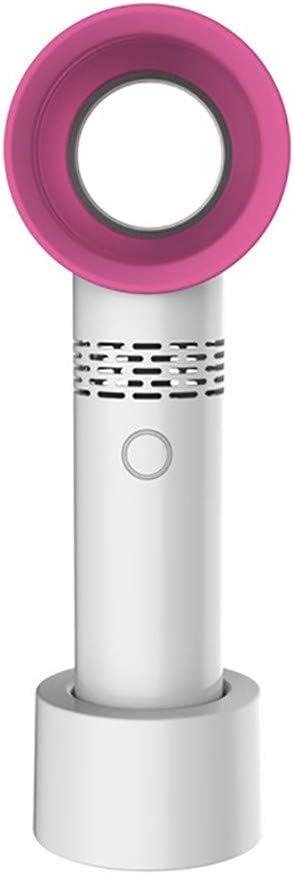 QZA USB Recargable portátil sin aspas Ventilador Mini refrigerador portátil sin Hojas práctico Ventilador con 3 Ventilador indicador de Nivel de Velocidad