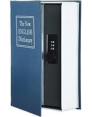 Boekenkluis van Amazon Basics - combinatieslot - blauw