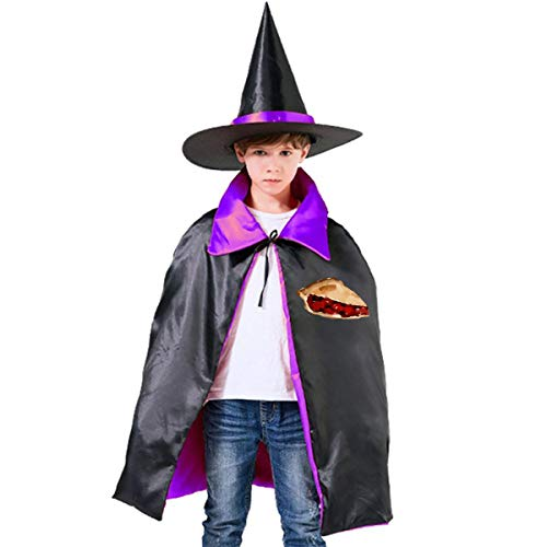 Kids Slice Cherry Pie Halloween Party Costumes Wizard Hat Cape Cloak Pointed Cap Grils Boys ()