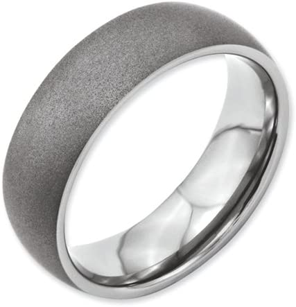 Titanium Stone Finish 7mm Band Best Quality Free Gift Box