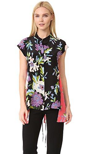 diane-von-furstenberg-womens-asymmetrical-short-sleeve-shirt-curzon-pink-black-2