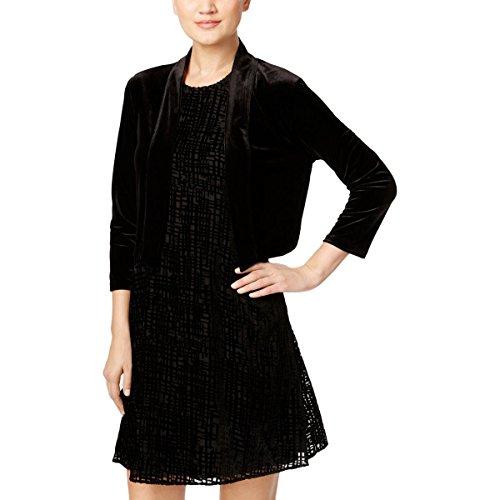 Calvin Klein Women's Basic Jersy Shrug, Black 16, S by Calvin Klein