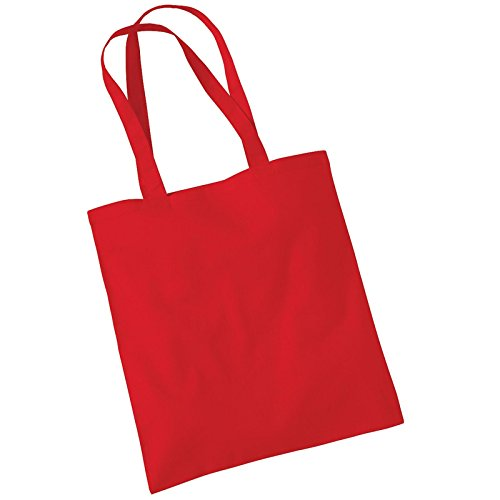Classic Tote Promo Mill Red Shoulder Cotton Westford Womens Carry Bag xOgwqPpFp