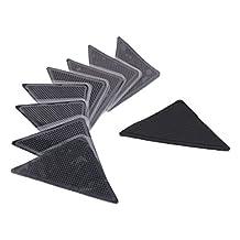 BestDeal Household Reusable Non Slip Sticker Carpet Pad Underlay Tape Rug Grippers 8pcs Black