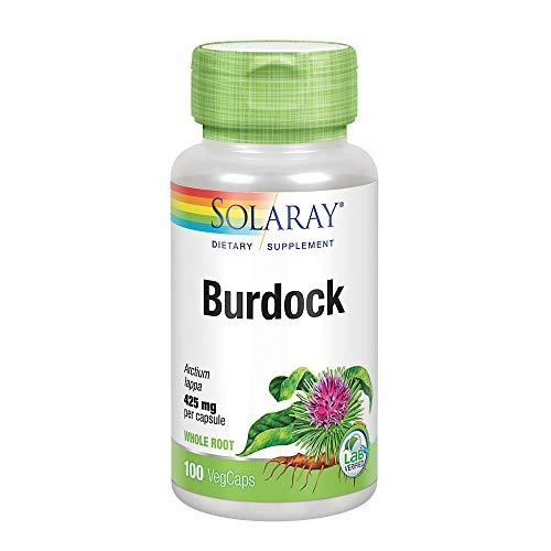 Solaray Burdock Root Capsules, 425 mg, 100 Count