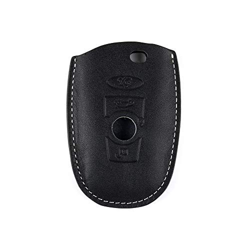1797 Compatible Key Fob BMW Accessories 1 2 3 4 5 6 7 Series X1 X2 X3 X4 X5 X6 i3 i8 F30 G20 F10 F01 G11 F15 F16 Case Holder Cover Car Remote Chain Ring Shell Protector Women Men Leather Black White