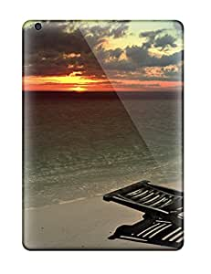 Ipad Air Cases Covers - Slim Fit Tpu Protector Shock Absorbent Cases (sittingthe Beach)