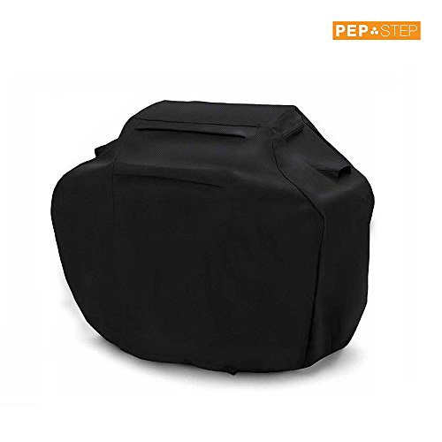 BBQ Cover 58 Inch Grill Cover Waterproof Barbeque Cover Heavy Duty Barbecue Cover Grill Accessories Fabric Windproof BBQ Cover for Grill fits Weber Brinkmann Dyna Glo Char Broil Jenn Air (Q Bar B Covers)