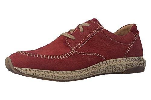 Josef Seibel Lia 01, Zapatos de Cordones Derby para Mujer Rojo - Rot (Carmin 388)