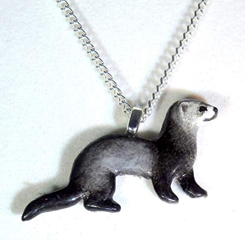 Black Sable Ferret Necklace (739)