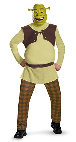 Shrek Costumes Adult (Disguise Men's Shrek Deluxe Adult Costume, Green, X-Large)