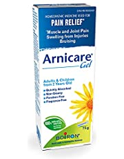 Boiron Arnicare Gel for Pain Relief, 75 g tube. Topical for muscle & joint pain, bruising - Bruise & swelling. Water-based Gel – Fast absorption – Fragrance-free – Cooling effect, Natural Sourced Plants Including Arnica Montana