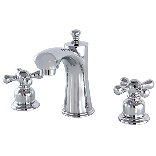 Kingston Brass KB7961AX Victorian Widespread Lavatory Faucet, (Chrome Victorian Double Handle)