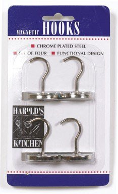 Harold'S Kitchen Magnetic Hooks Chrome Plated Steel 4 / Carded