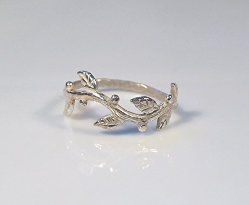 (Sterling Silver Twig Ring For Women, Any size)