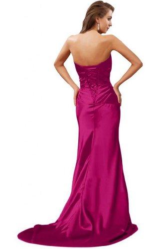 in sera spalline senza elegante da per Sunvary stile fucsia sirena abiti rosa zxgTw1