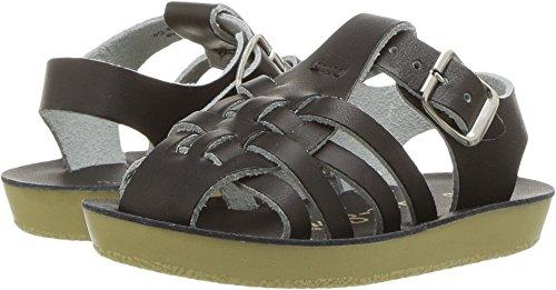 - Salt Water Sandals by Hoy Shoe Baby Sun-San Sailor Flat Sandal, Black, 3 M US Infant