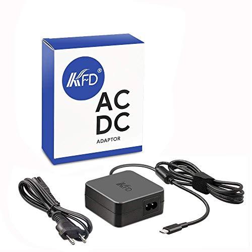 KFD Adaptador de Corriente 5V 9V 15V 3A 20V 3.25A 65W Cargador USB Tipo C PD USB C para Huawei Matebook D 14