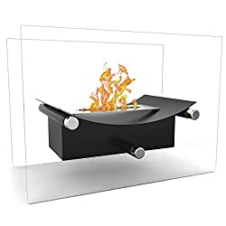 Regal Flame Arkon Ventless Indoor Outdoor Fire Pit Tabletop Portable Fire Bowl Pot Bio Ethanol Fireplace - Realistic Clean Burning like Gel Fireplaces, or Propane Firepits