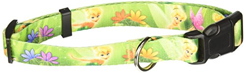 "Platinum Pets Disney 1"" Nylon Collar (16"" Thru 26"") with Tinker Bell Design"