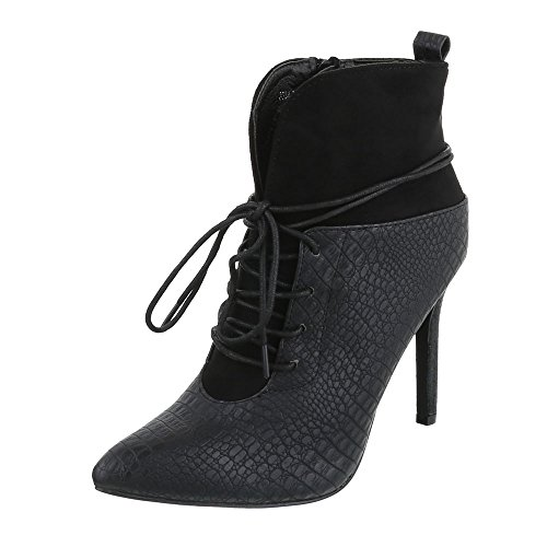 Boots Schwarz Design 3 Ital Women's 3534 AF4qgT